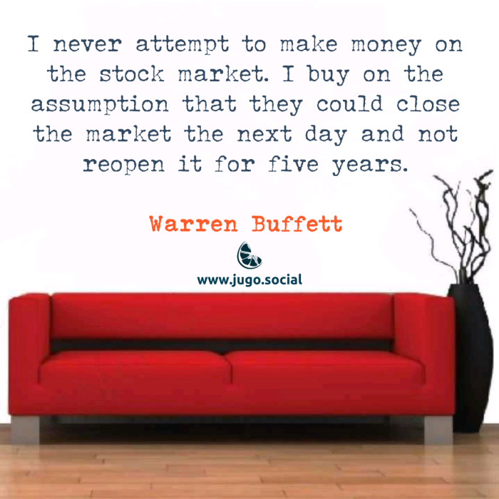 I never attemp to make money…