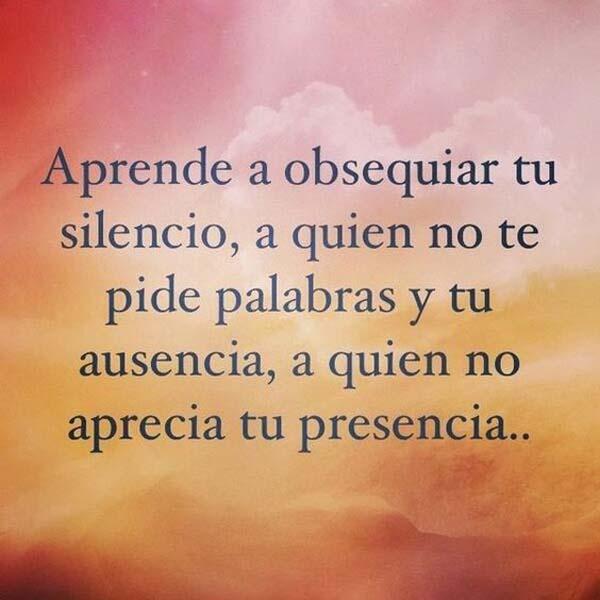 Obsequia tu silencio…